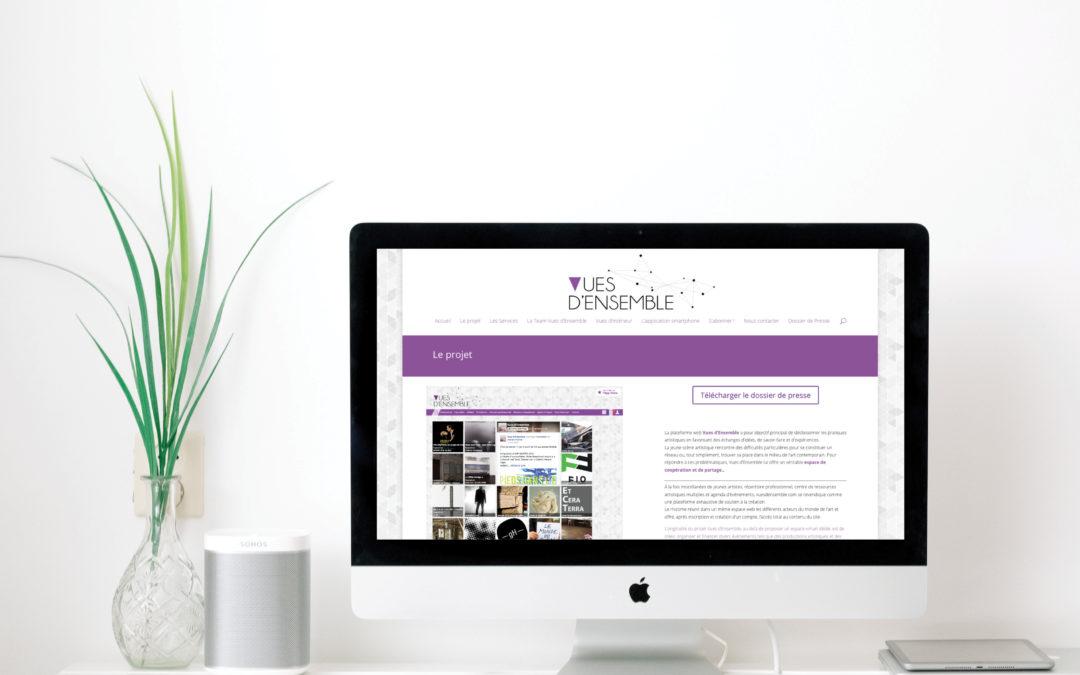 Site internet – Vues d'Ensemble Actualités
