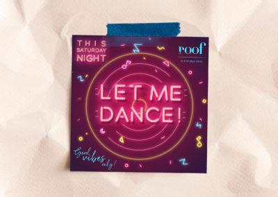 Flyer – Let Me Dance ! – Le Roof