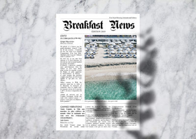 Carte Petit-déjeuner – Le Roof Cannes