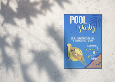 Flyer Pool Party – Le Roof Cannes